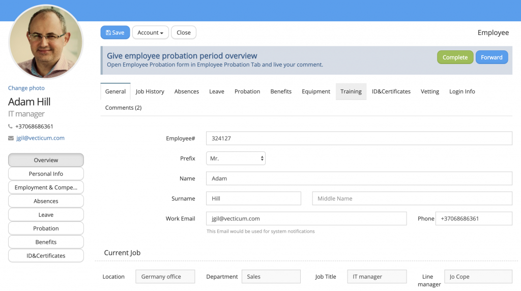 Manage employees online with Iguana HR from Human Results